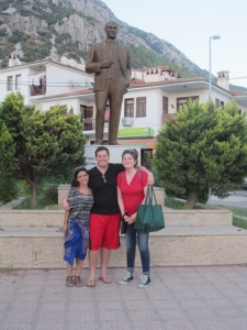 A new tradition: K-Town Kids pose with Ataturk in every city they visit. Many more to come!