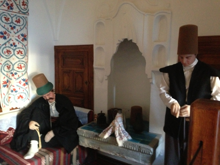 one of many mannequin displays in the former lodgings of Mevlevi dervishes