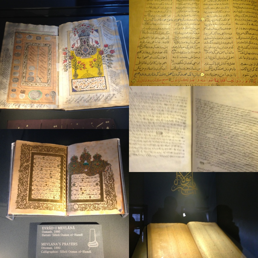 Some of the many manuscripts displayed at the Museum